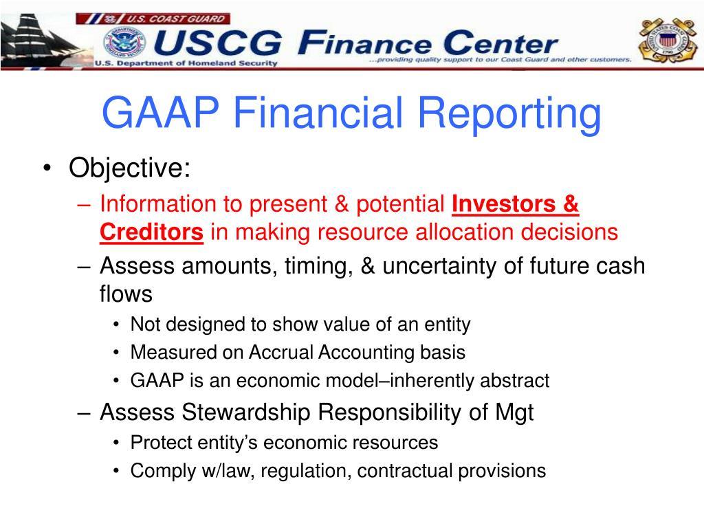 GAAP Financial Reporting