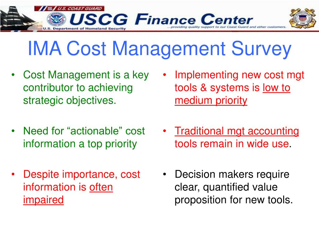 Cost Management is a key contributor to achieving strategic objectives.