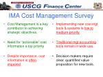 ima cost management survey