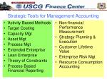 strategic tools for management accounting