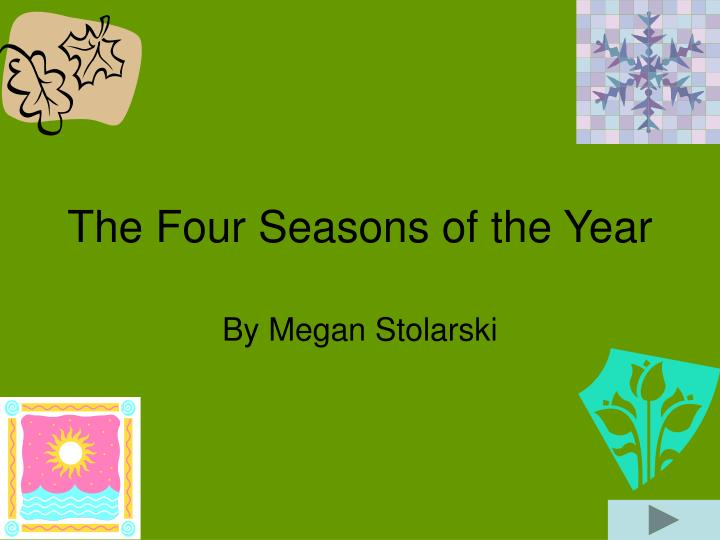 the four seasons of the year n.