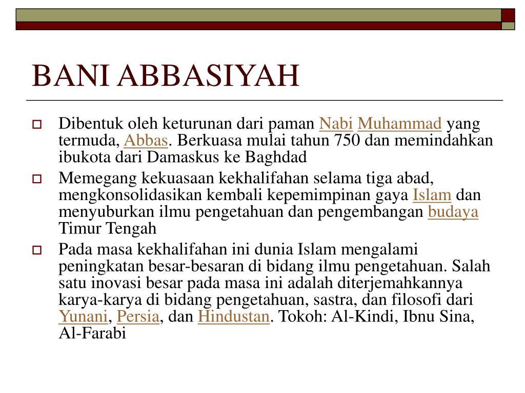 BANI ABBASIYAH