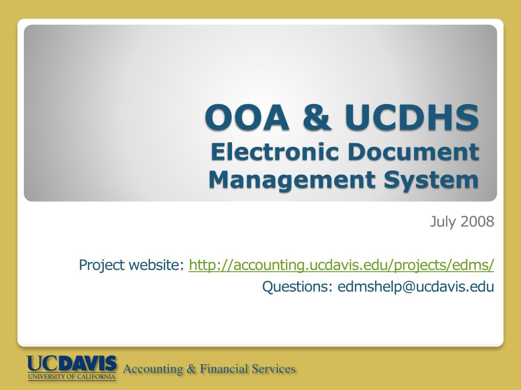 ooa ucdhs electronic document management system l.