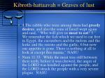 kibroth hattaavah graves of lust