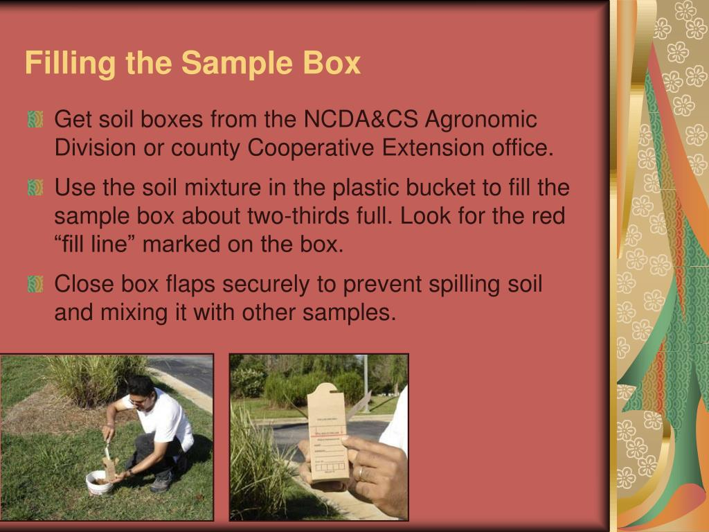 Filling the Sample Box