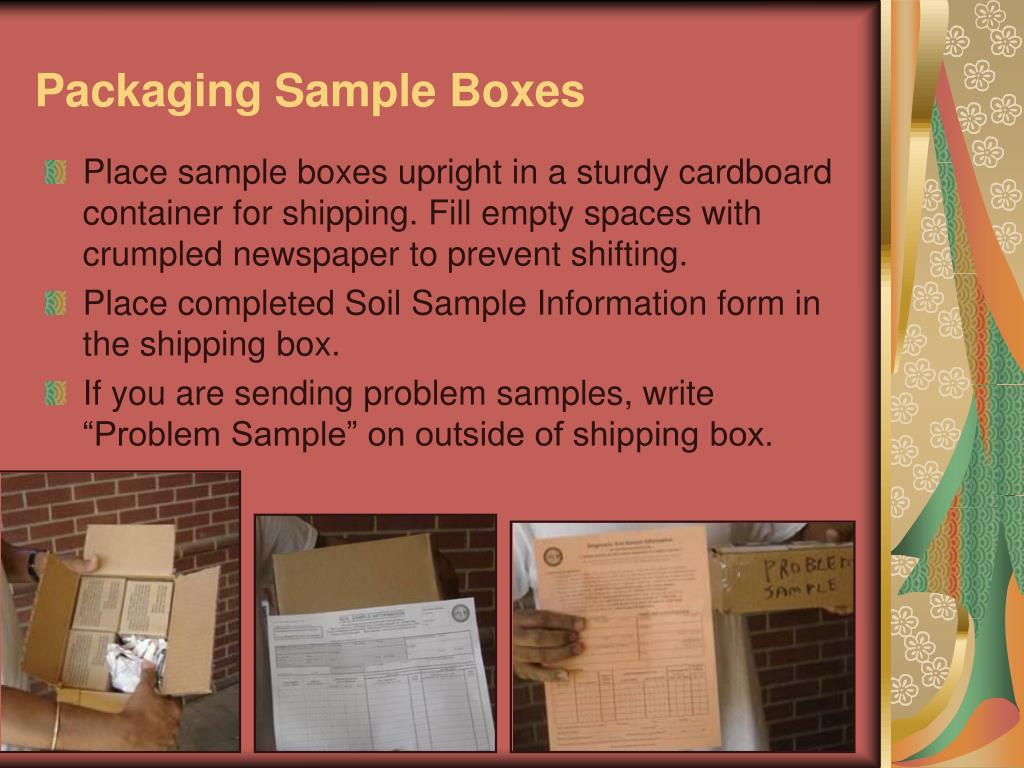 Packaging Sample Boxes
