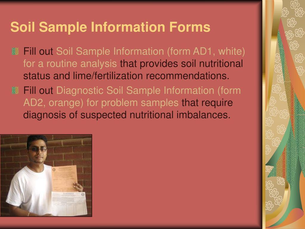 Soil Sample Information Forms