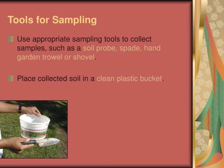 Tools for sampling