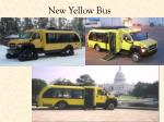 new yellow bus