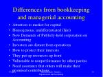 differences from bookkeeping and managerial accounting