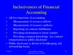inclusiveness of financial accounting