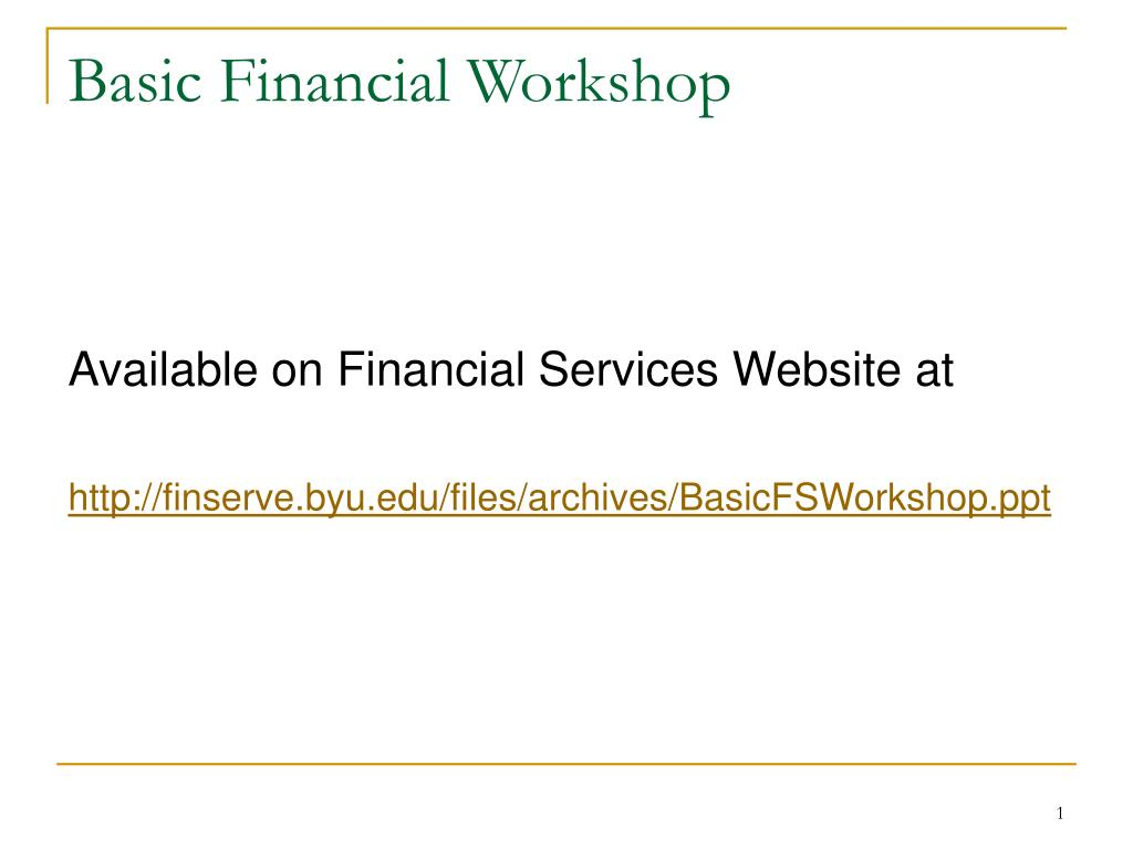 basic financial workshop l.