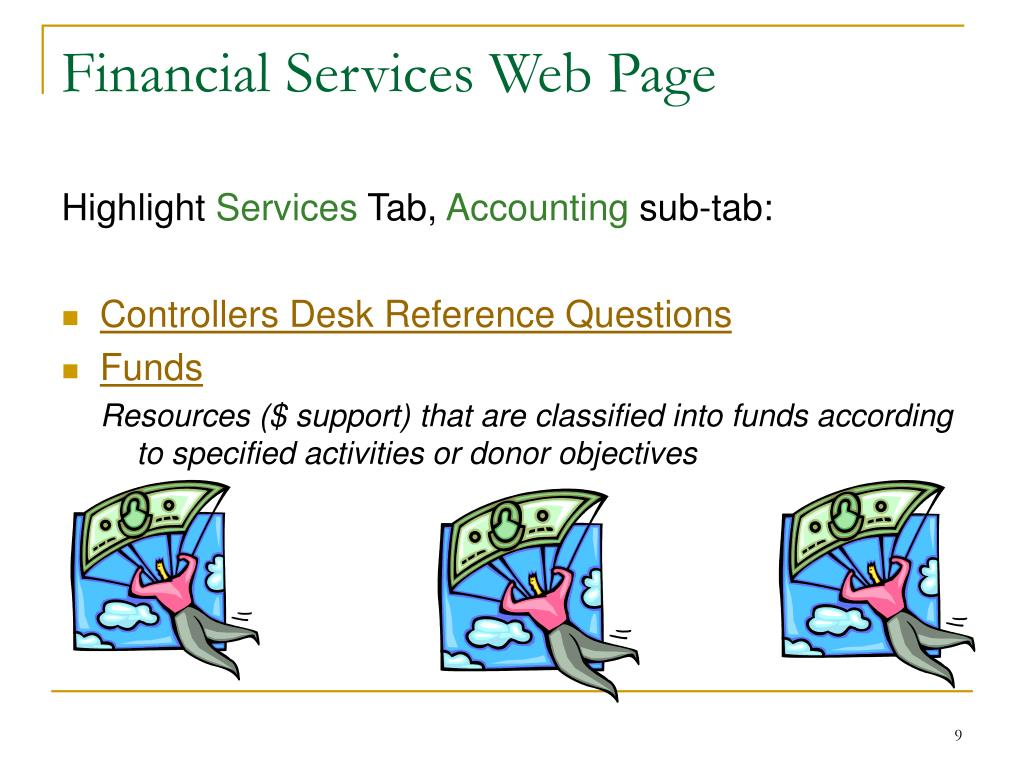 Financial Services Web Page