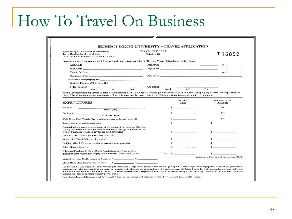 How To Travel On Business