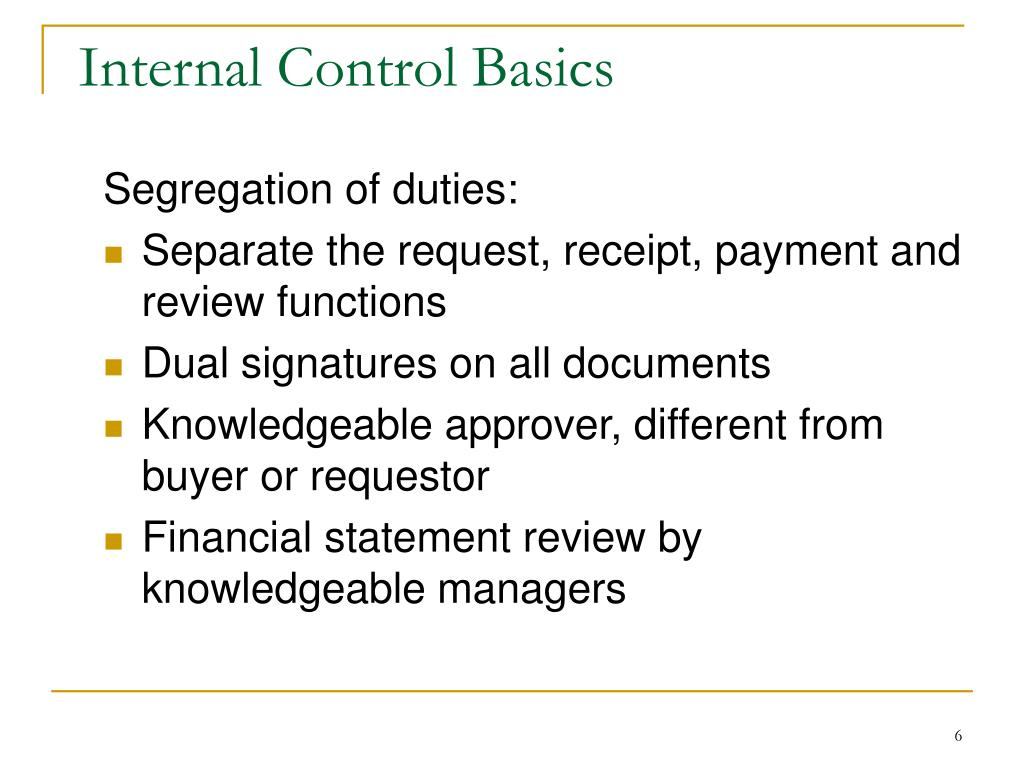 Internal Control Basics