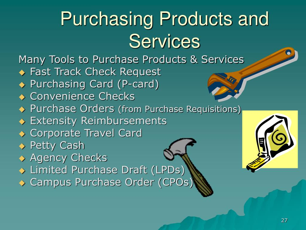 Purchasing Products and Services