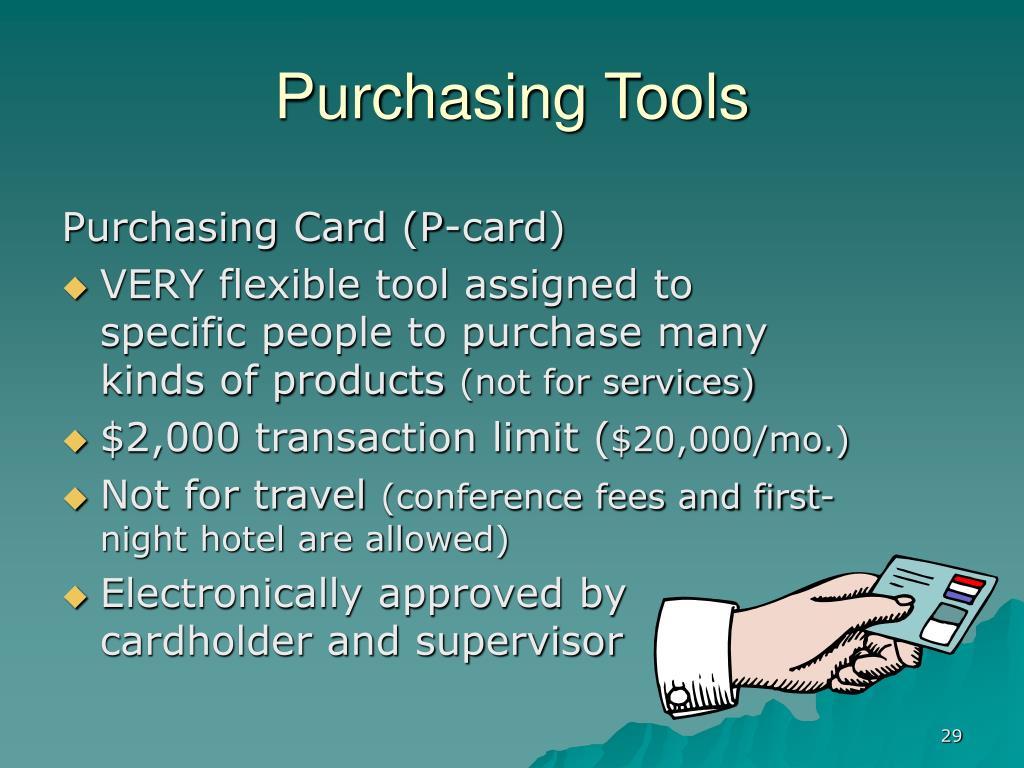 Purchasing Tools