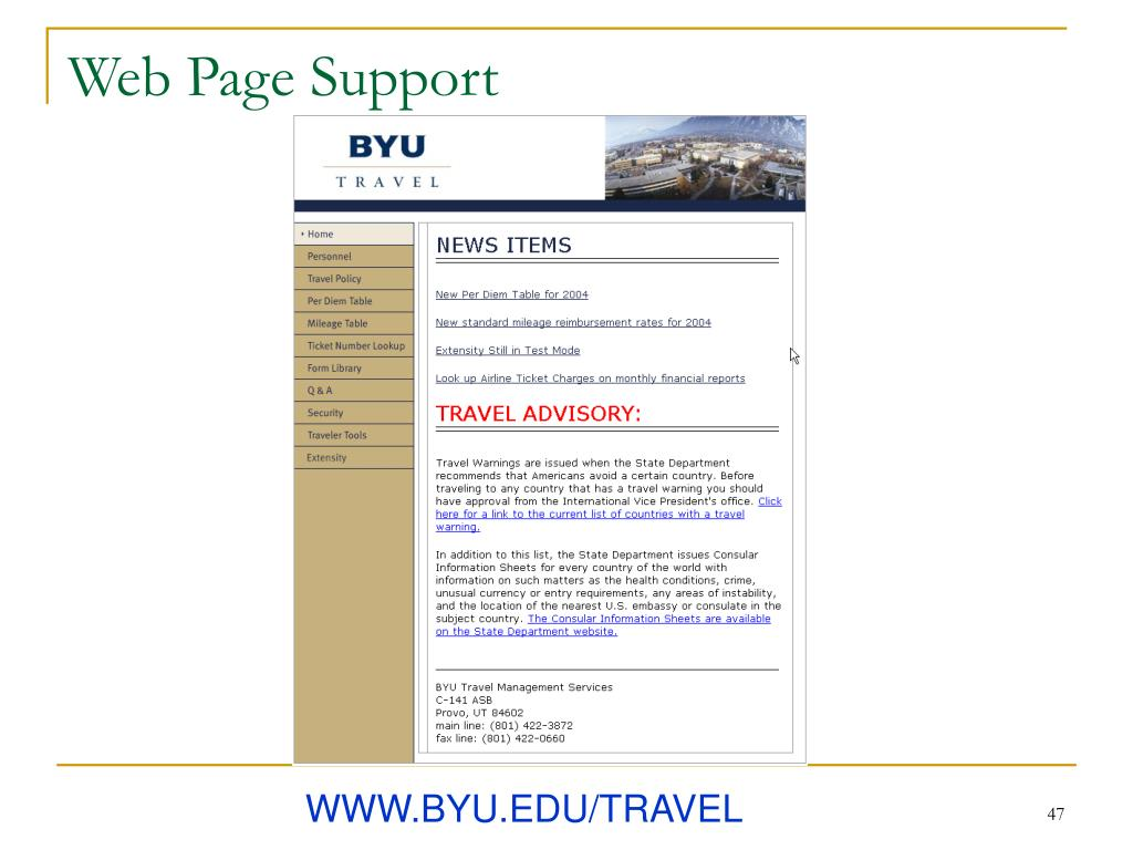 Web Page Support