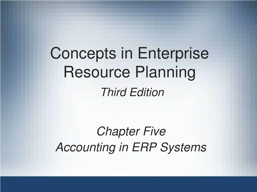 concepts in enterprise resource planning third edition l.