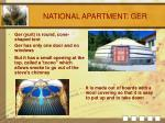 national apartment ger