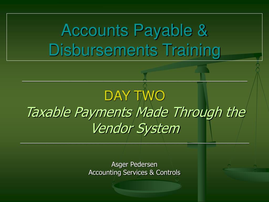 accounts payable disbursements training l.
