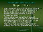 nonresident alien tax issues responsibilities