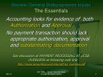 review general disbursements issues the essentials