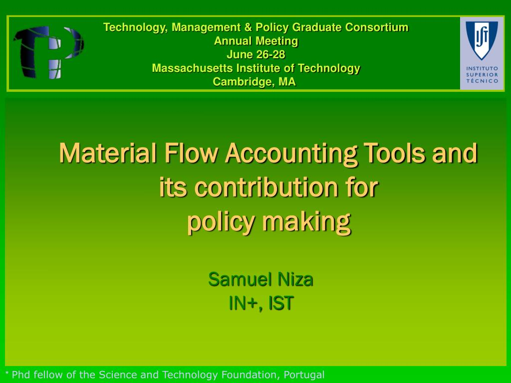 material flow accounting tools and its contribution for policy making l.