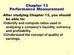 chapter 13 performance measurement4