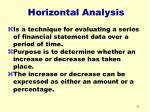 horizontal analysis