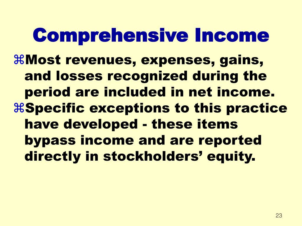 Comprehensive Income