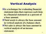 vertical analysis