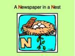 a n ewspaper in a n est