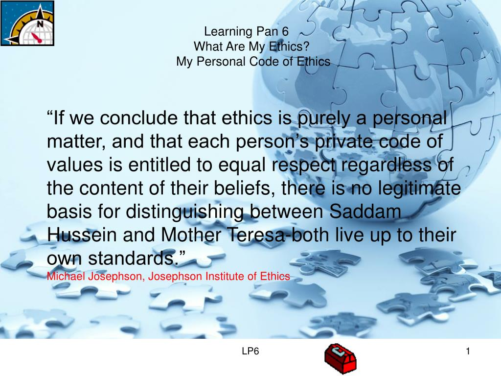 introduction and conclusion on personal ethics Professional ethics and moral values shalabh kulshreshtha faculty of engineering, dayalbagh educational institute direct_2_shalabh@yahoocom introduction ethics, also called moral philosophy, the discipline concerned with what is morally good and bad, right and wrong.