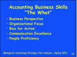 accounting business skills the what