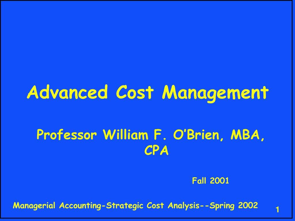advanced cost management l.