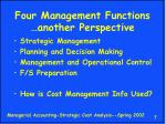 four management functions another perspective