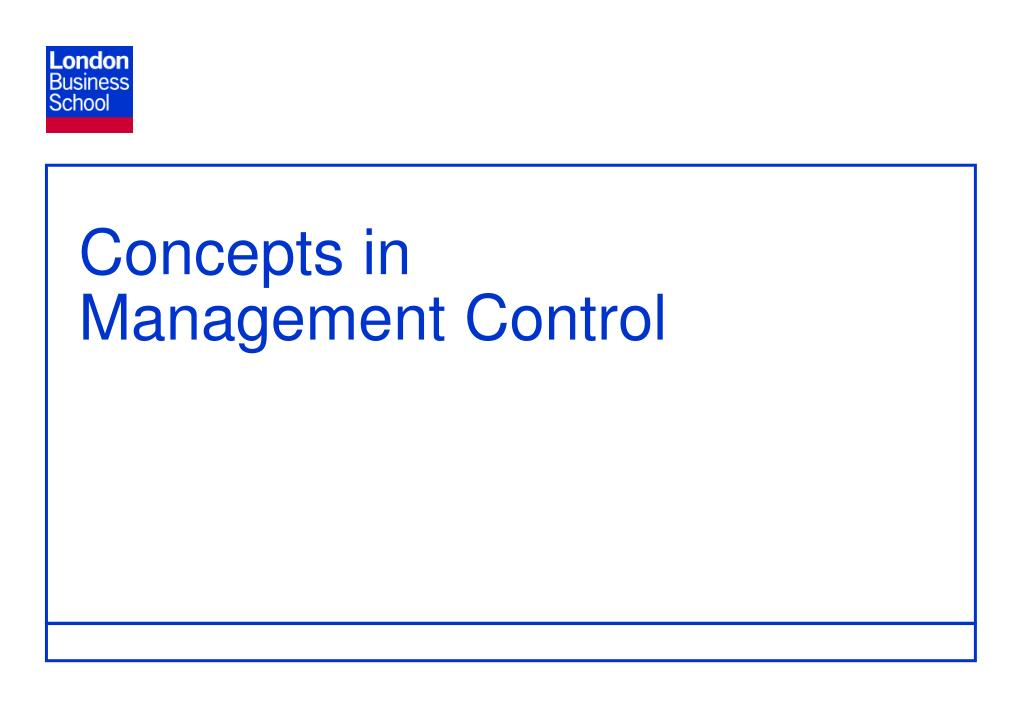 concepts in management control l.