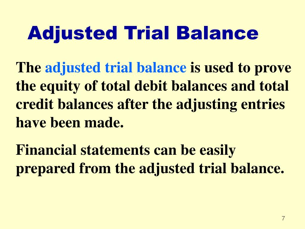 Adjusted Trial Balance