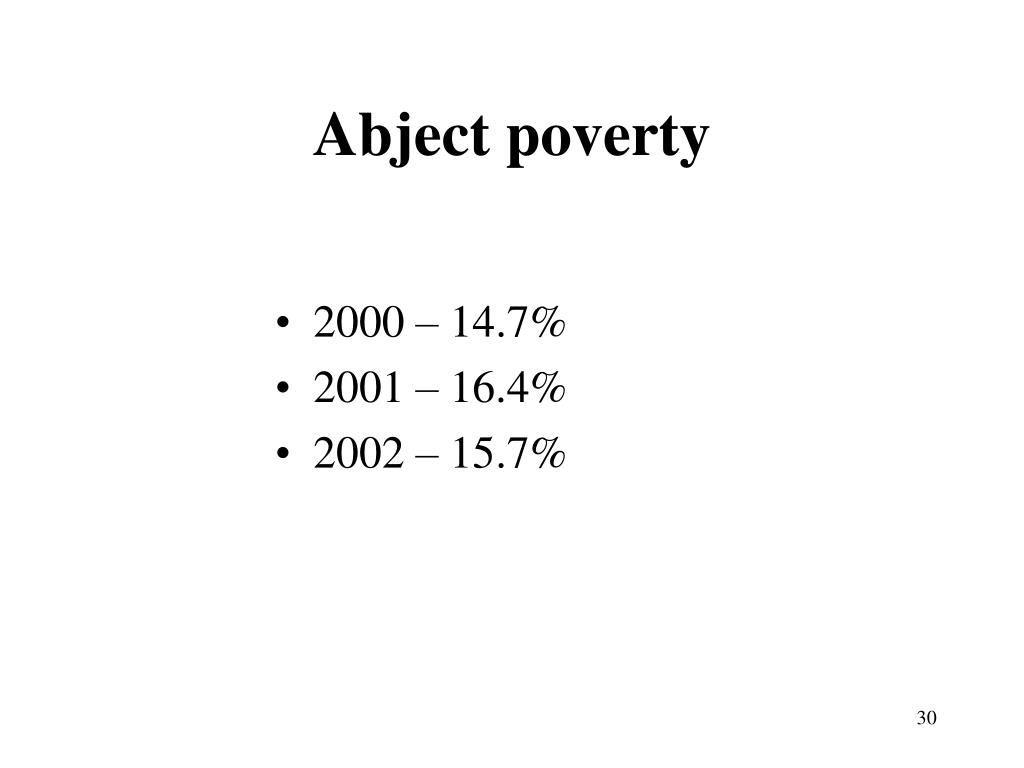 Abject poverty