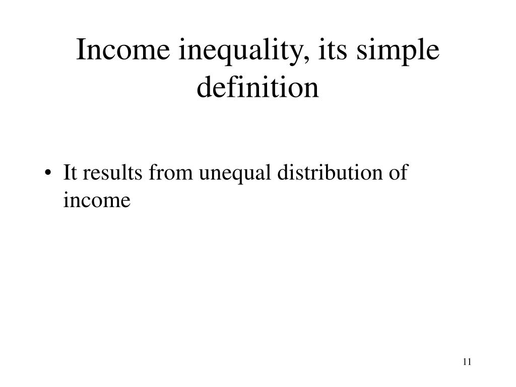 Income inequality