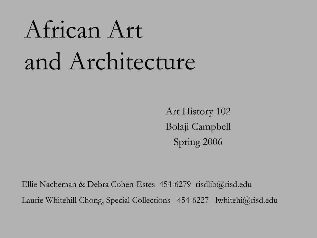 african art and architecture l.