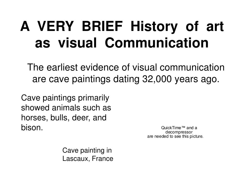 A  VERY  BRIEF  History  of  art  as  visual  Communication