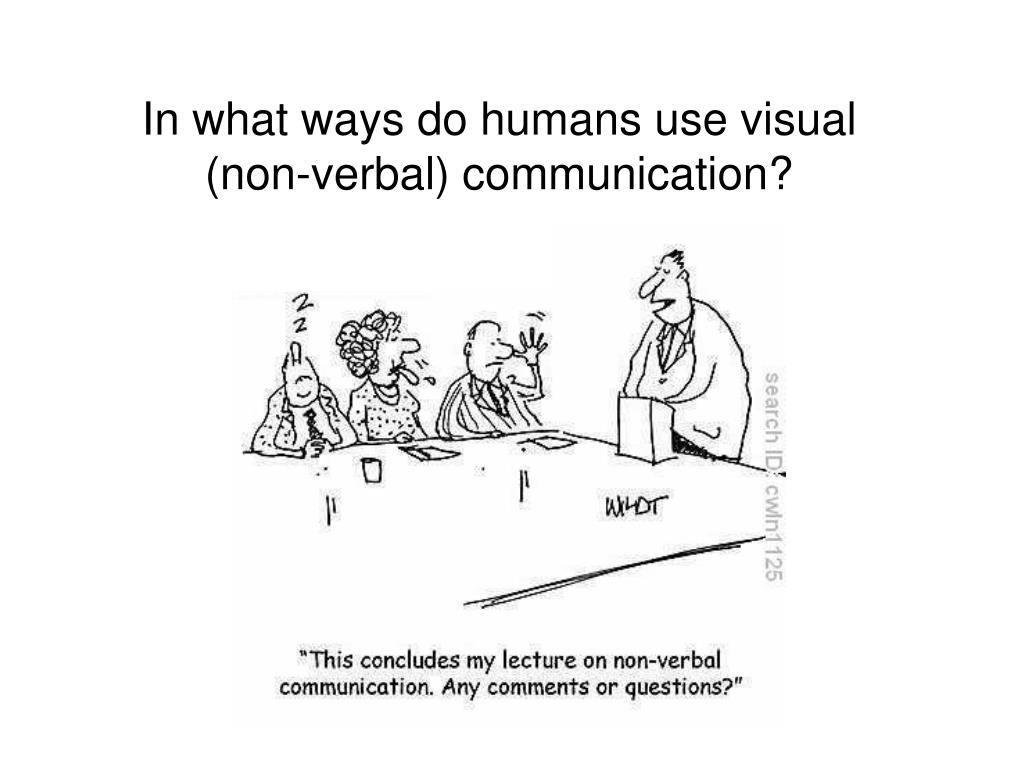 In what ways do humans use visual (non-verbal) communication?