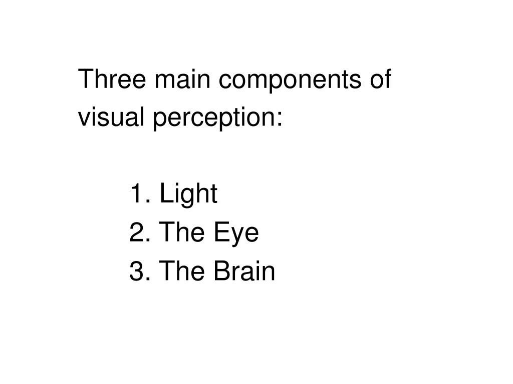 Three main components of