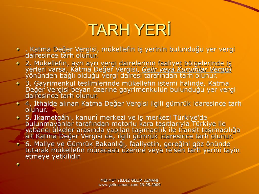 TARH YERİ