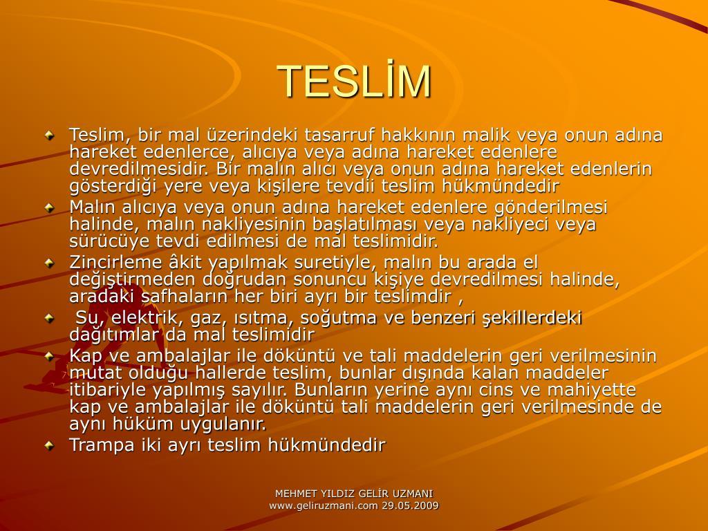 TESLİM