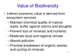 value of biodiversity21
