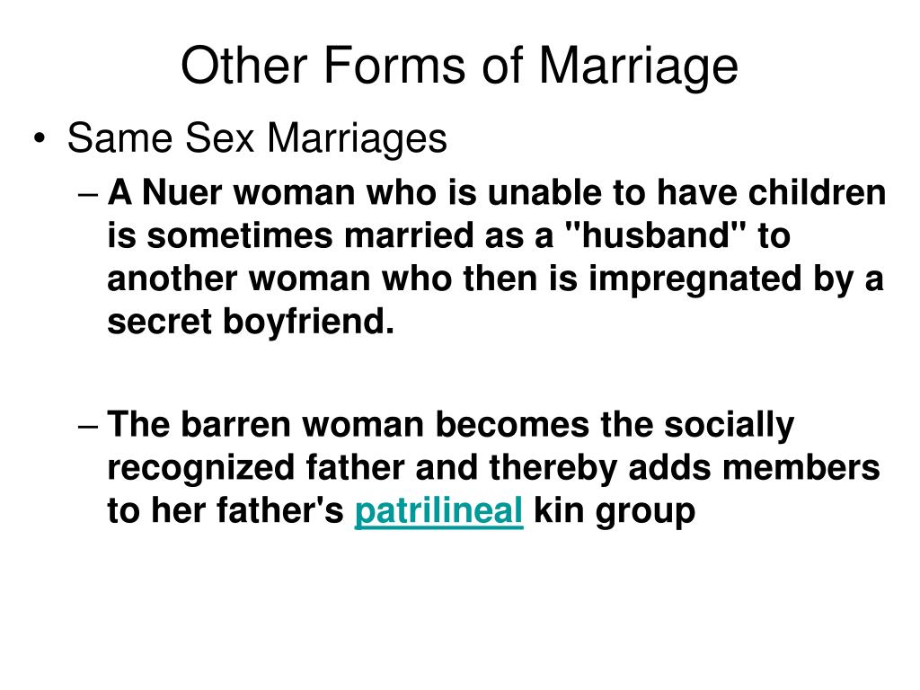 Other Forms of Marriage