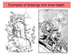 examples of drawings that show depth